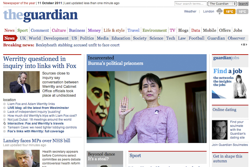 Guardian dating blog